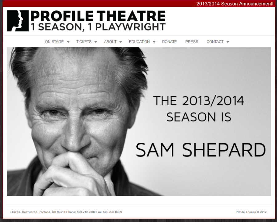 Profile Theatre.  Deceptively simple.  You are drawn in for the details.