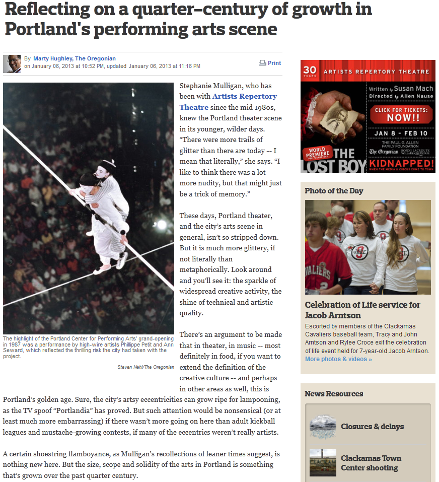 What's changed in the last 25 years in Portland's performing arts scene?