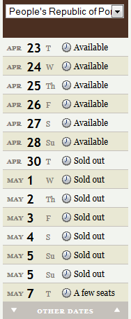 "This graphic is so you can't say later - ""Oh, I had no idea it would sell out.""  It is definitely going to sell out."