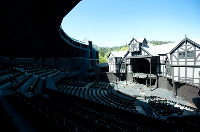 OSF's outdoor stage.  Once upon a time, being able to project over this space was part of the job description.