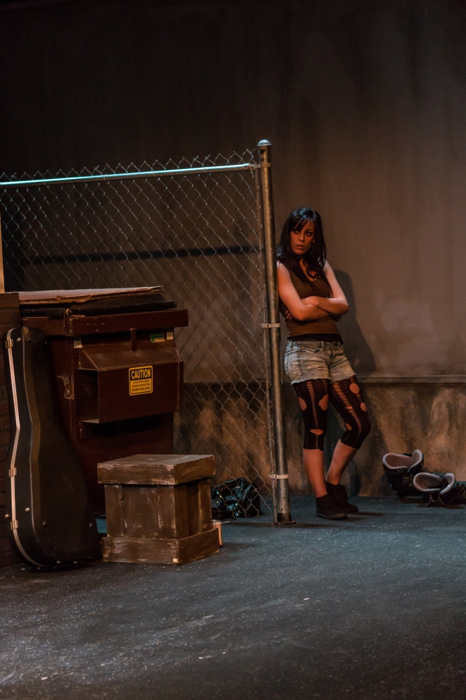 Lauren Silverstein as Bee-Bee in SUBURBIA at PAC, 2013.  Photo: Gary Norman.