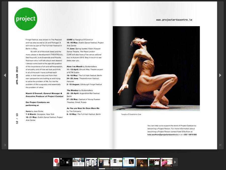 The beautiful online user experience that is issuu.com's digital platform.