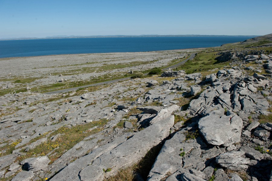 The Burren and Galway Bay.