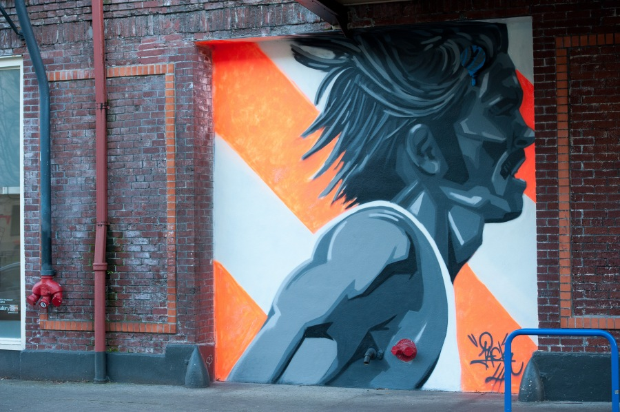 Street art in the Pearly Pearl.