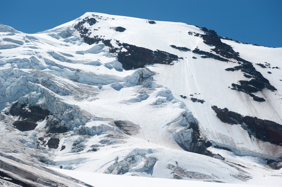 The Adams glacier and Northwest Ridge.