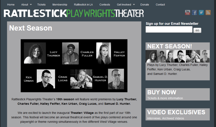 All new, all the time: New York's Rattlestick Playwrights Theater.