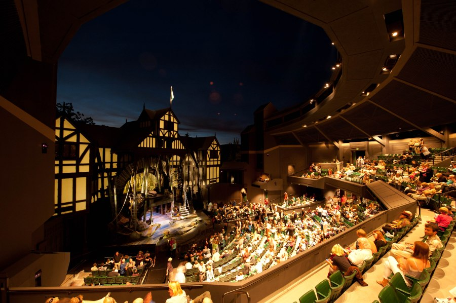 Uh, ok, if I have to.  The Allen Elizabethan Theatre bedecked in summer finery.
