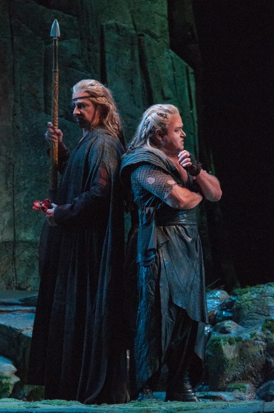 Wagner's Siegfried; Dennis Peterson (Mime), Stefan Vinke (Siegfried).  © Elise Bakketun photo