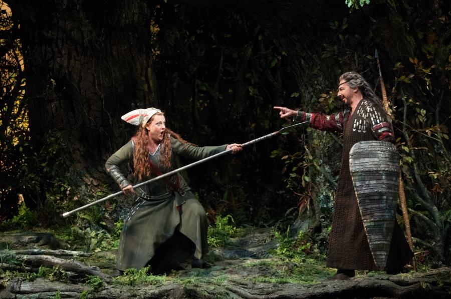 Wagner's Die Walküre, Alwyn Mellor (Brünnhilde), Greer Grimsley (Wotan). © Elise Bakketun photo