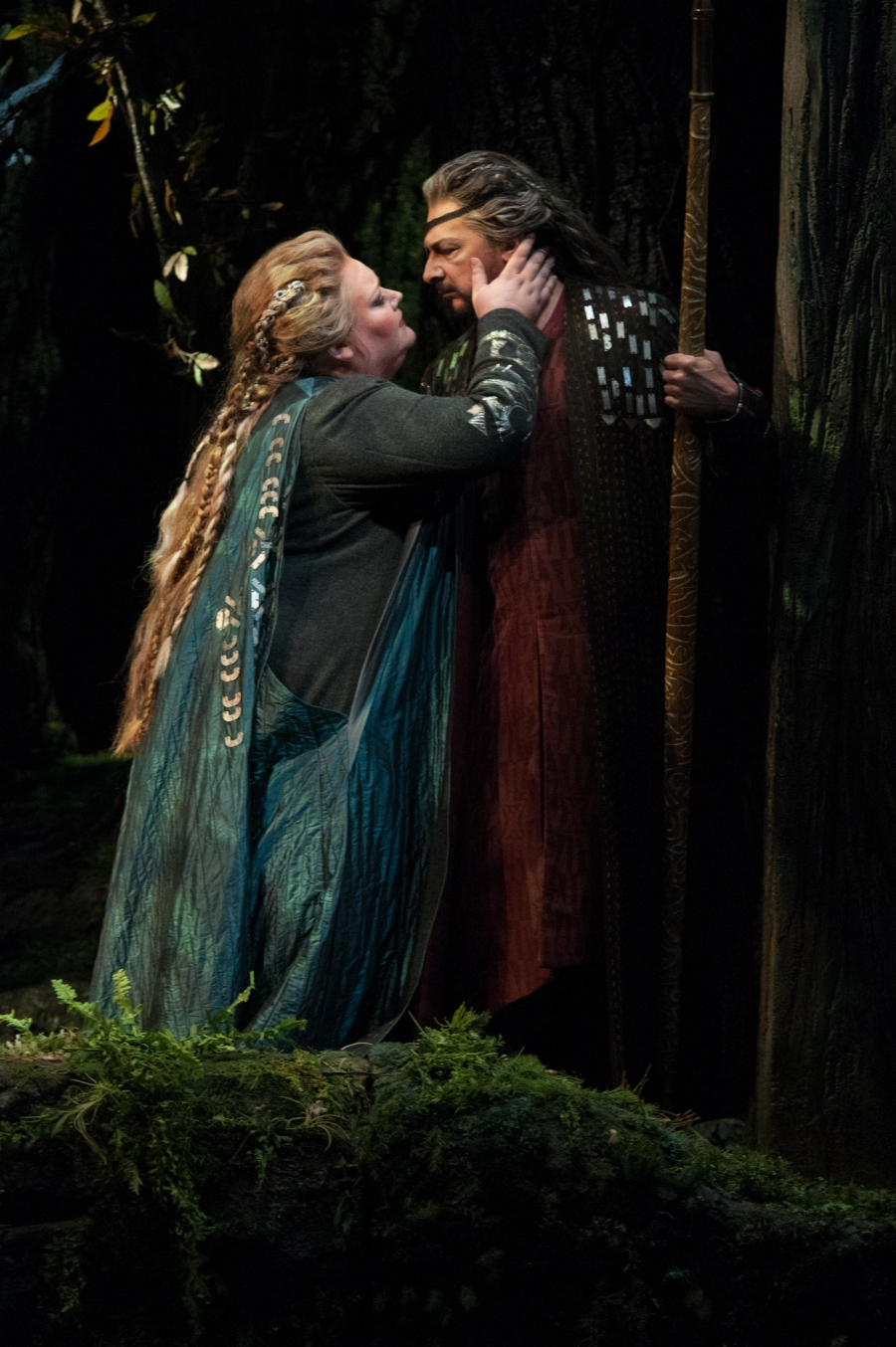 Wagner's Die Walküre, Stephanie Blythe (Fricka), Greer Grimsley (Wotan). © Elise Bakketun photo