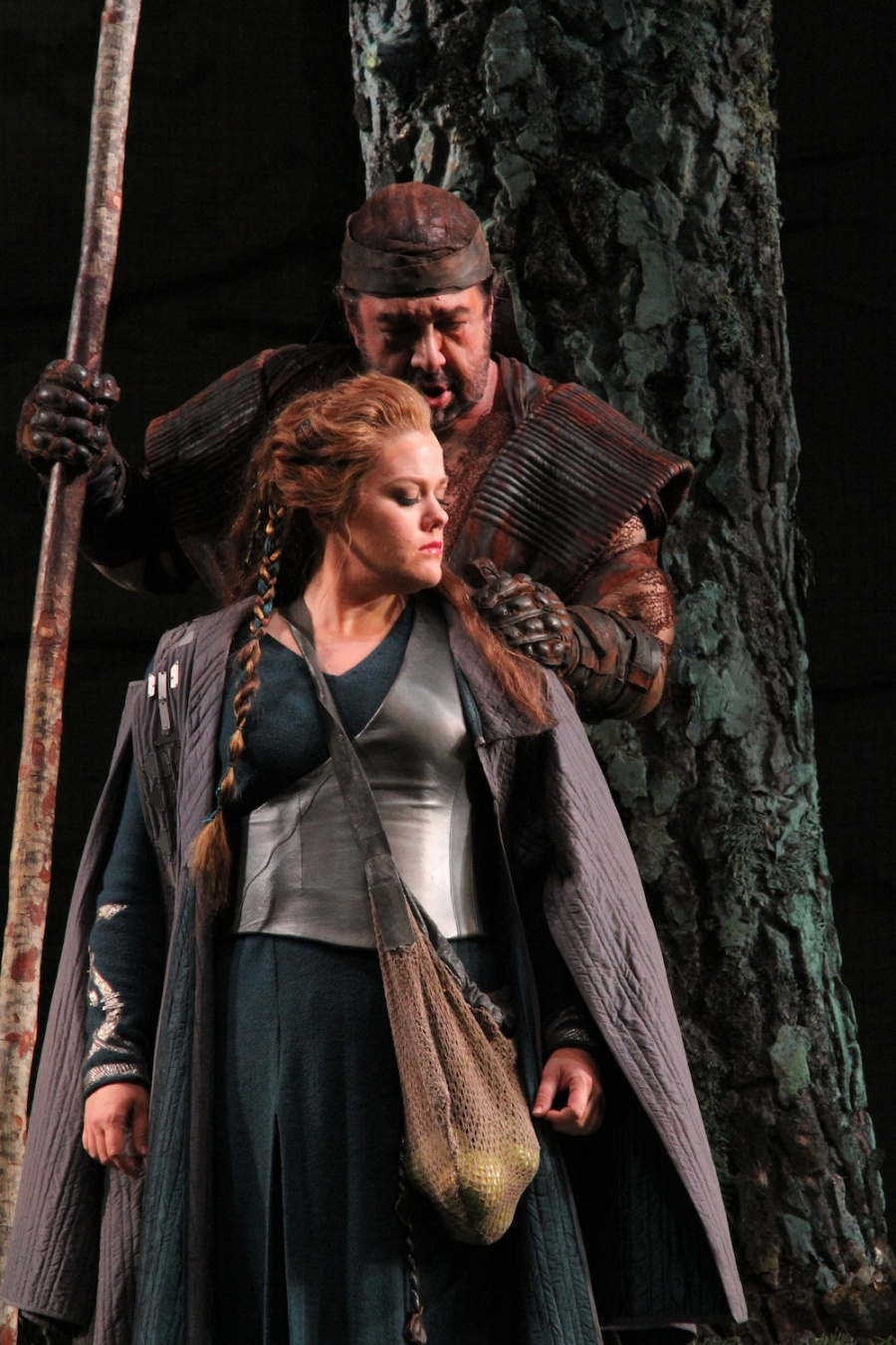 Wagner's Das Rheingold, Wendy Bryn Harmer as Freia and Andrea Silvestrelli as Fasolt. © Alan Alabastro photo