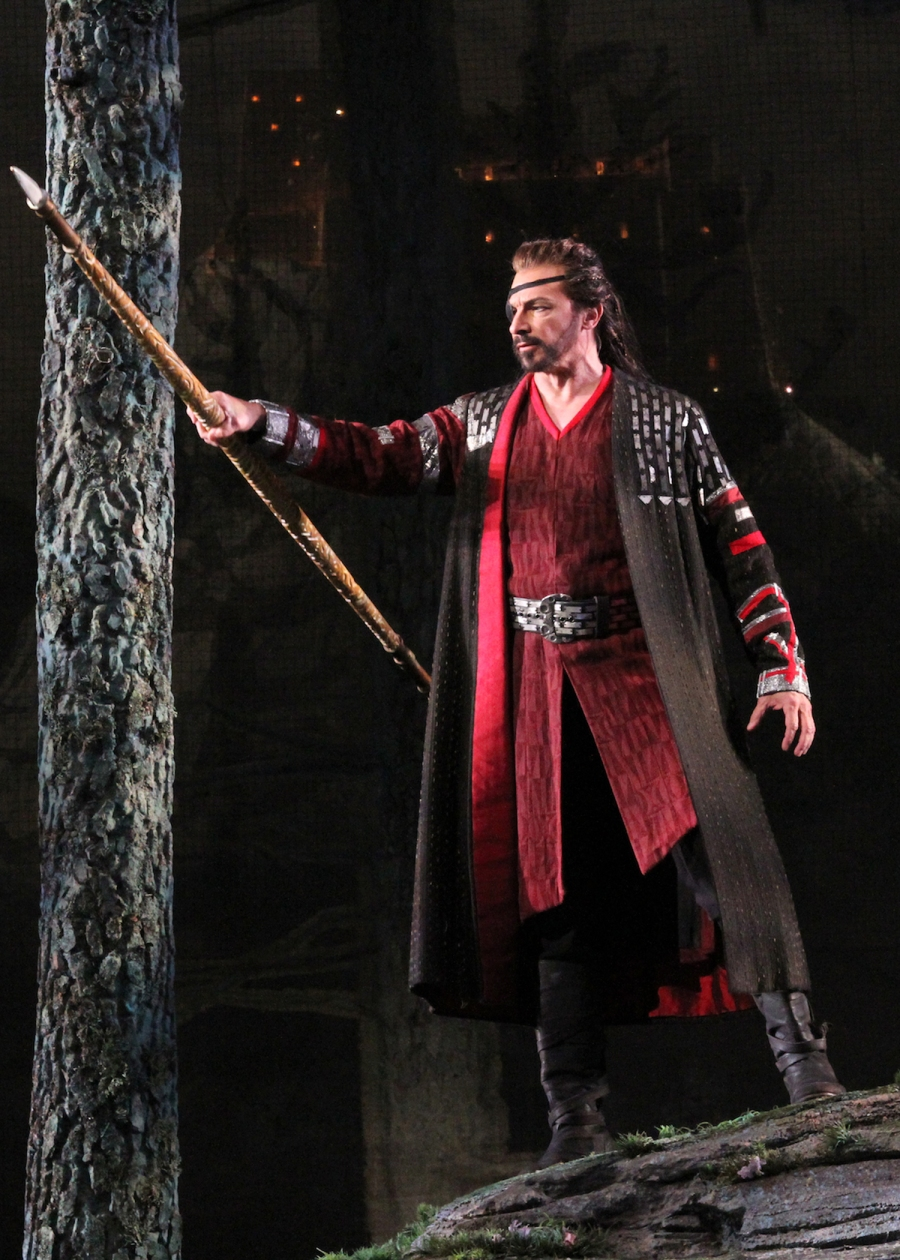 Wagner's Das Rheingold, Greer Grimsley as Wotan.  © Alan Alabastro photo