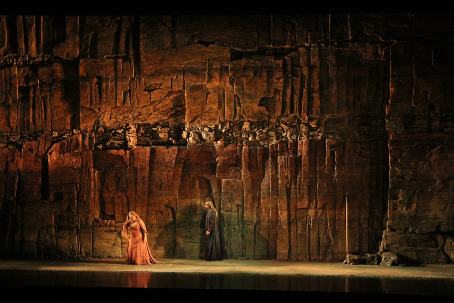 Wagner's Siegfried; Stefan Vinke (Siegfried) and Fafner. © Alan Alabastro photo