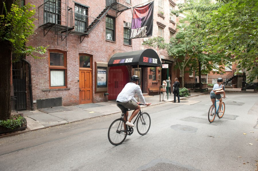 Two things that should be everywhere in New York in the summer: bikes and theatre.