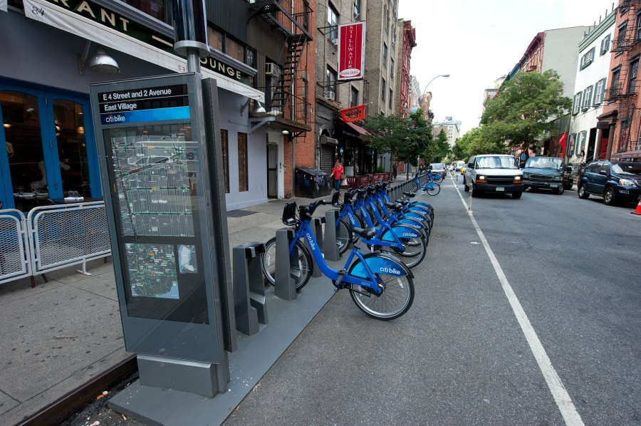 Stations are everywhere for the city's bike share program.