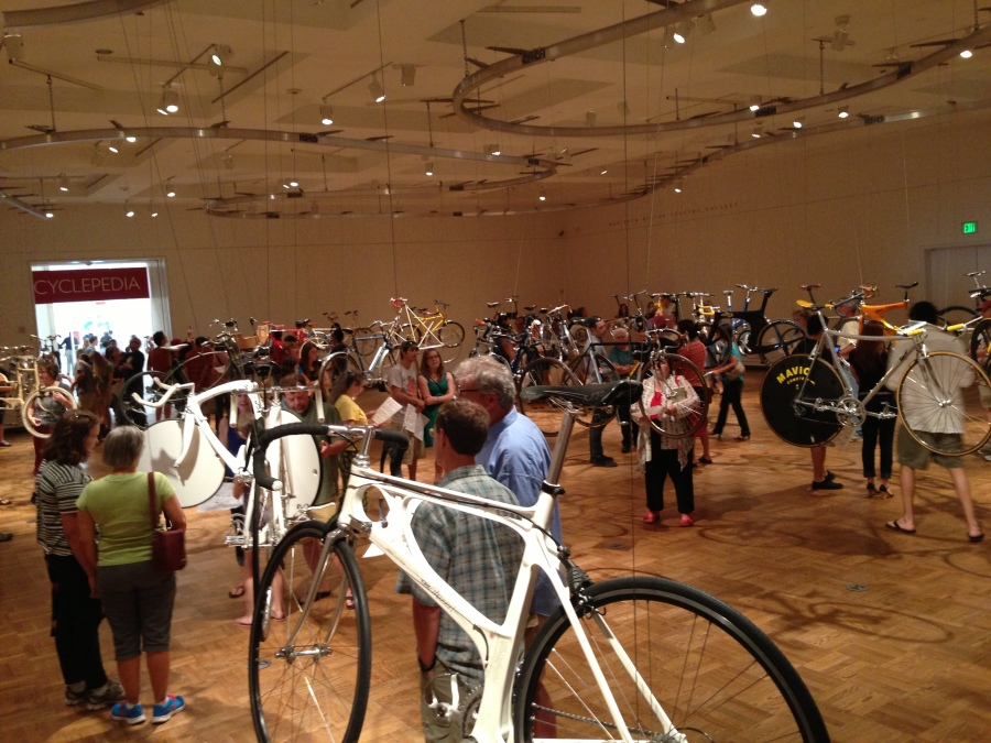 One way to bring Portlanders in.  An exhibit about bikes.