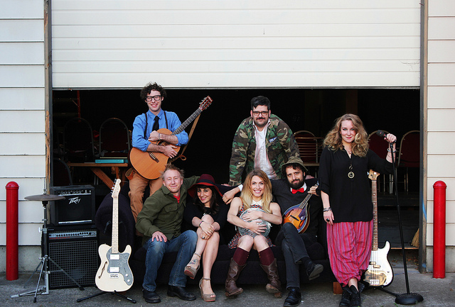 bands, trains, and beer - OH MY!  Photo: Pat Moran.