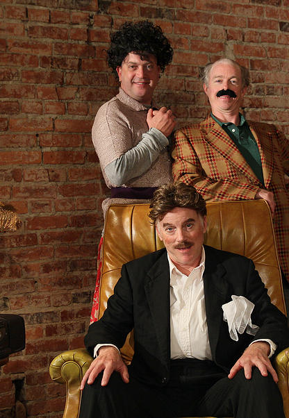 The cast for New Century's WALWORTH.  Blake (Peter Dylan O'Connor (Blake), Sean (Darragh Kennan) and  Dinny (Peter Crook).