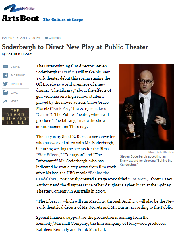 If Soderbergh is involved, you know it's going to be good.