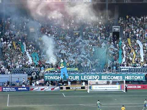 When briefed on the situation, the Timbers Army set fire to their own seating area in solidarity with Portland.