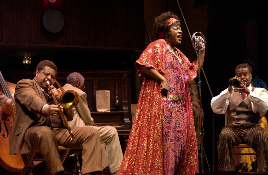 MA RAINEY'S BLACK BOTTOM at OSF (2005). Josiah Phillips, Abdul Salaam El Razzac, Greta Oglesby, Kevin Kenerly. Photo: Jenny Graham.