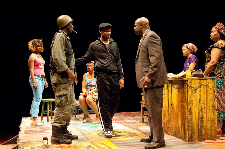 RUINED by Lynn Nottage at OSF (2010).  Ensemble.  Photo: Jenny Graham.