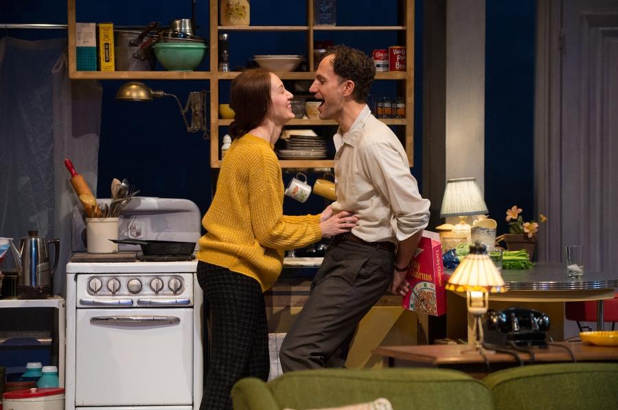 Iris Parodus Brustein (Sofia Jean Gomez) spars with her husband, Sidney (Ron Menzel). Photo: Jenny Graham.