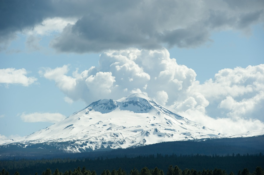 South Sister.  Sedate, dependable, stable.  The work horse of the trio.