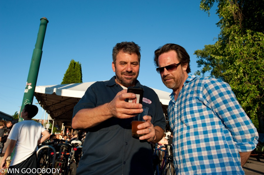 Lardo chef/owner Rick Gencarelli shows Don how to order Dirty Fries on the new iPhone App.