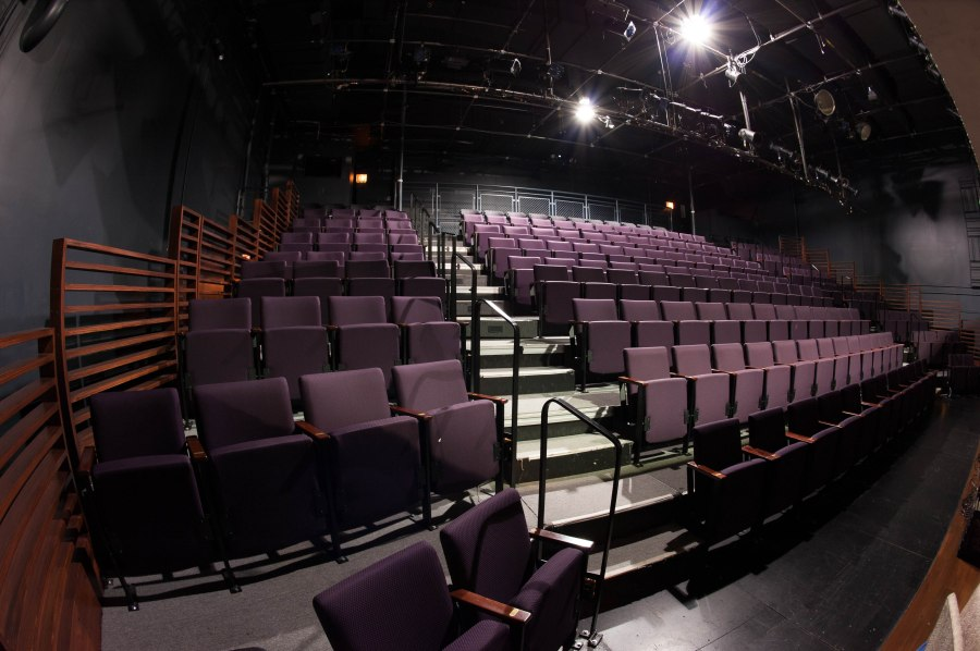 Half the seating for the upstairs staging of THIS IS OUR YOUTH at Steppenwolf.