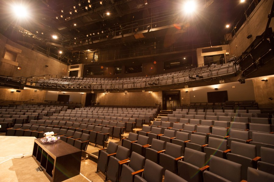 Steppenwolf's main 550 seat downstairs theatre where the world premiere of THE QUALMS by Bruce Norris is currently running.