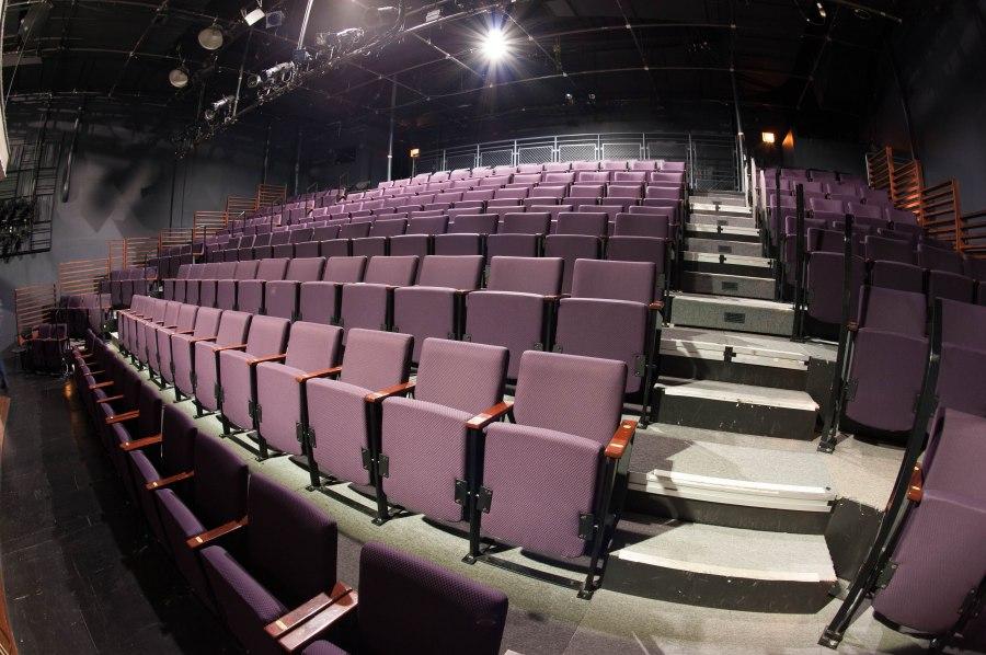 Half of the upstairs theatre at Steppenwolf, where a sold out Broadway-bound revival of THIS IS OUR YOUTH is on for a few more weeks before heading to the Cort Theatre.