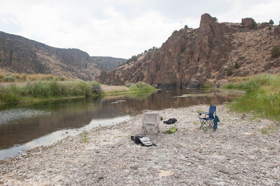 The water is 80 degrees in the Owyhee this time of year.
