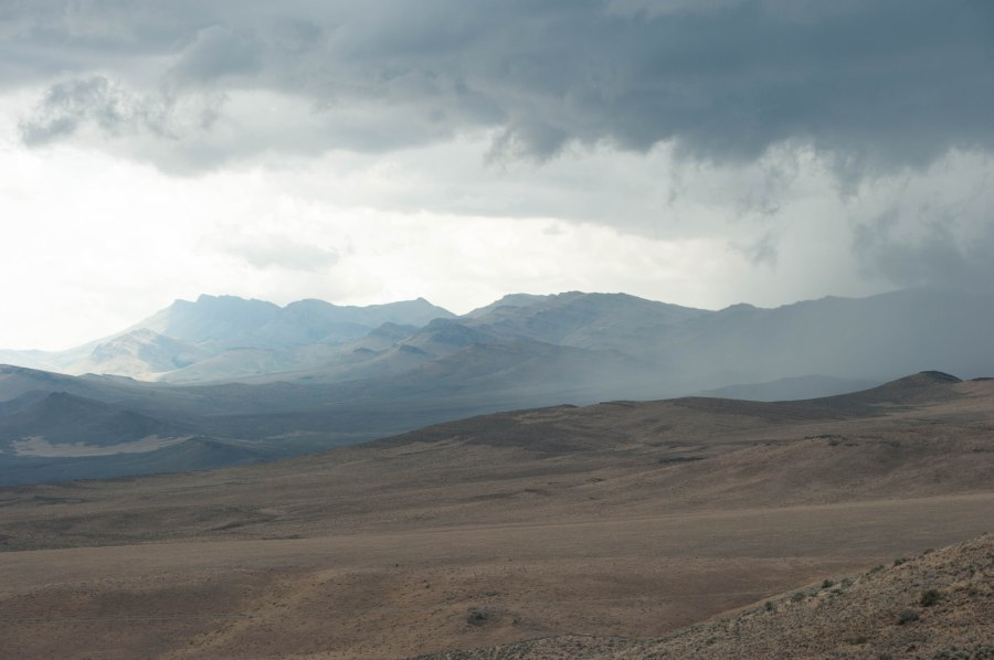 Here comes the rain - and lightning.  A storm rolls in Steens country.