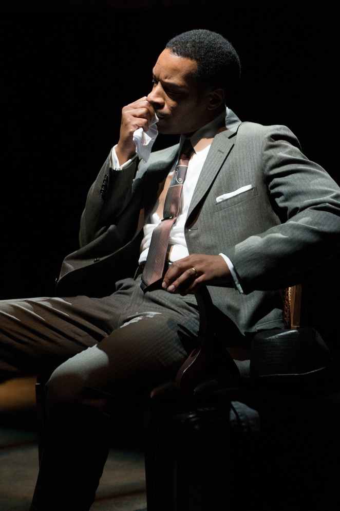 Dr. Martin Luther King, Jr. (Kenajuan Bentley) considers the cost of the movement. Photo by Jenny Graham.