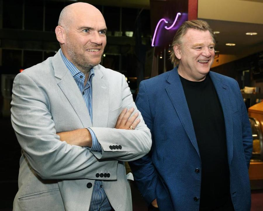 John Michael McDonagh and Brendan Gleeson in Boston.