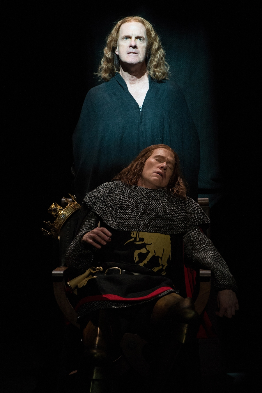 The ghost of George, Duke of Clarence (Jeffrey King) haunts the dreams of his brother Richard (Dan Donohue). Photo by Jenny Graham.