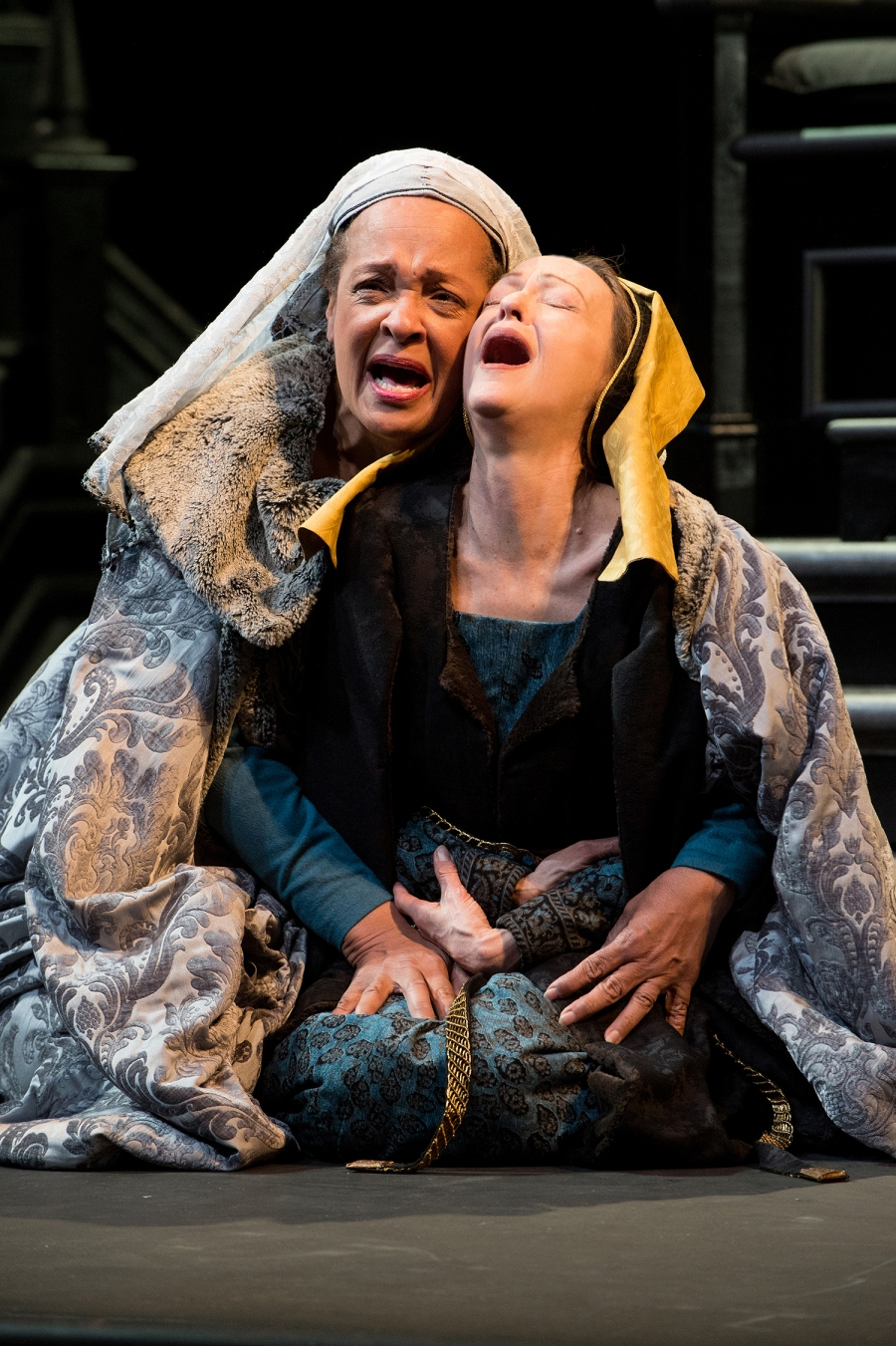Queen Margaret (Franchelle Stewart Dorn, left) and the Duchess of York (Judith-Marie Bergan) have both lost husbands and sons because of their feuding houses. Photo by Jenny Graham.