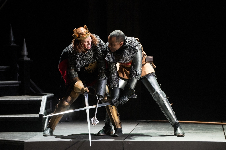 Richard III (Dan Donohue) and Richmond (R.J. Foster) battle for the throne. Photo by Jenny Graham.