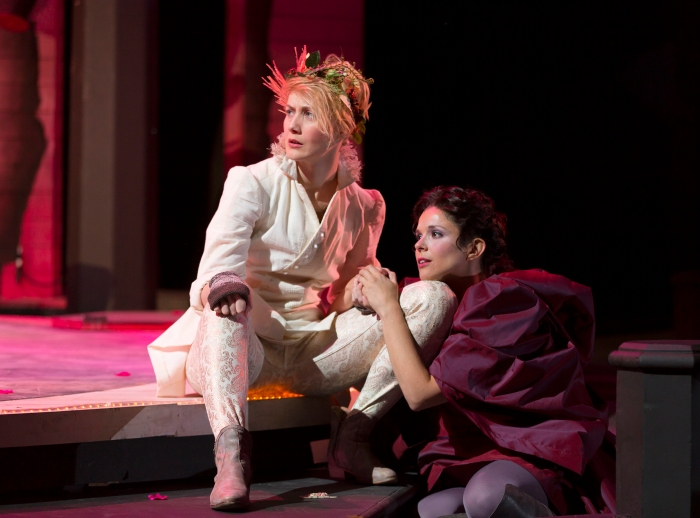 Syliva (Vivia Font) is won by Valentine (Sofia Jean Gomez), but all is not well. Photo by T. Charles Erickson.