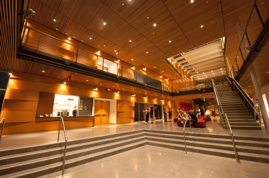 Interior of new Reed College Performing Arts Building.