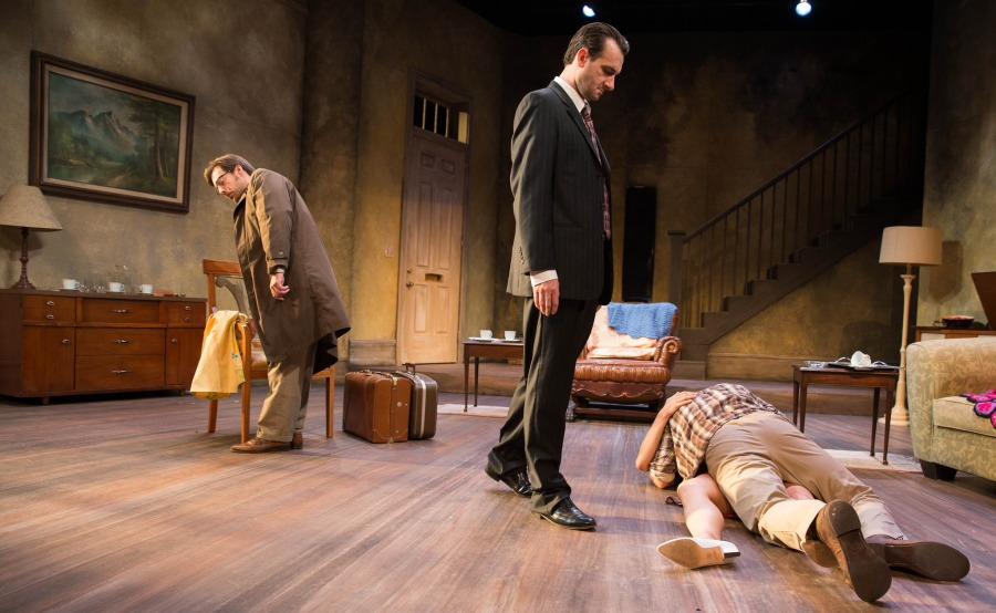 Don't mind Joey.  Jeffrey Jason Gilpin, Jacob Coleman, Anne Sorce, Jim Vadala.  Photo: John Rudoff.