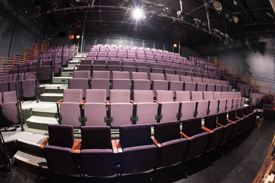 The temporary Upstairs Theatre will be replaced by a new 400 seat space south of the main building.