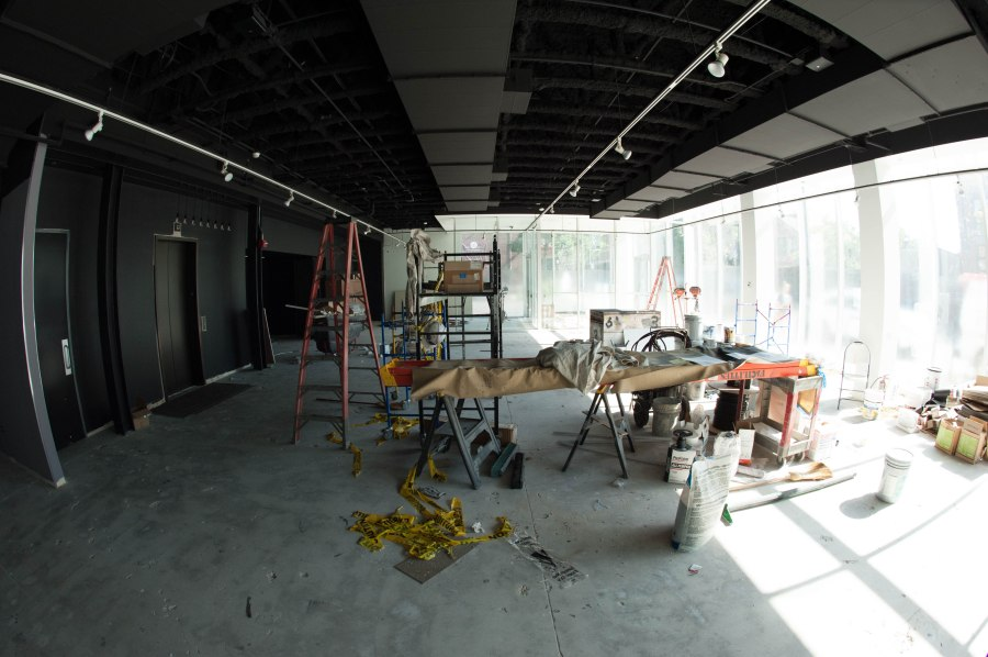 Construction inside the new building at 1700 North Halsted this summer.