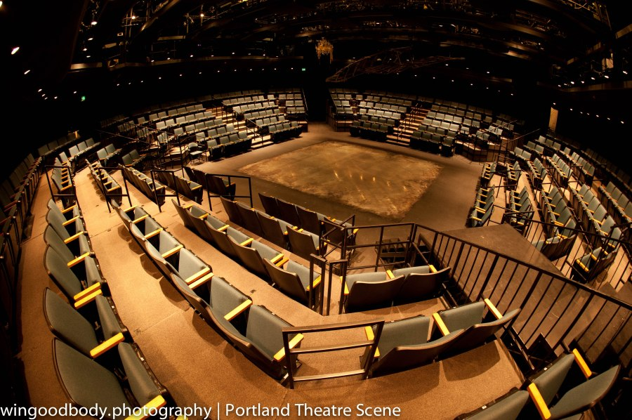 Inside the holiest of shrines.  Oregon Shakespeare's Festival's Thomas Theatre.