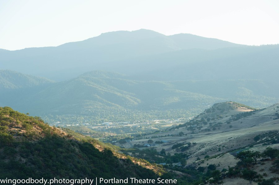 Hidden away just over yonder.  One of the world's great theatre centers.  Ashland, Oregon.