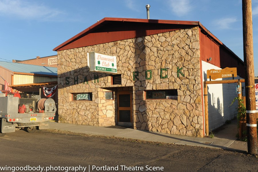 Looks like a theatre to me.  The world famous (and currently dormant) Shamrock Club in Fossil, Oregon.  Just waiting for a road show.