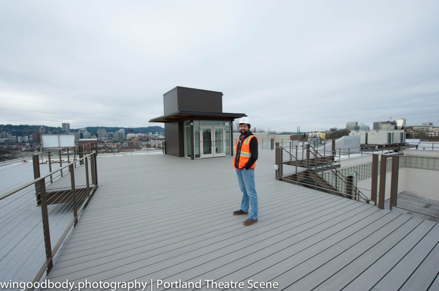 Mississippi Studio's Ned Failing unveils the roof deck.