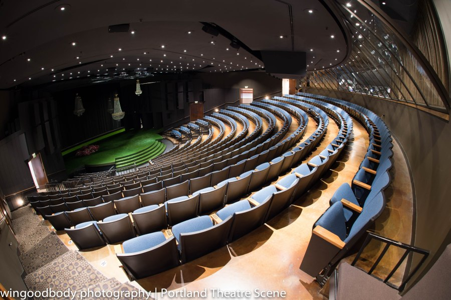 One of these seats has your name on it.  The Angus Bowmer Theatre at Oregon Shakespeare Festival.