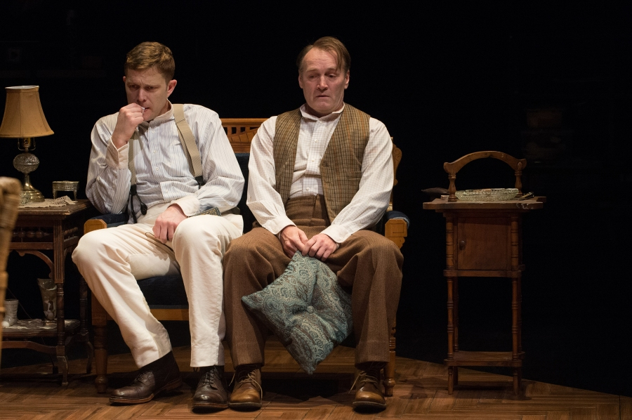 Danforth Comins (left) as Edmund Tyrone , Jonathan Haugen as James Tyrone, Jr. Photo: Jenny Graham.